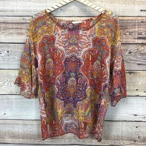 Sundance Sheer Blouse Multicolor Medium 0757